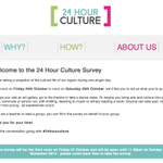LOVE THE ARTS? Then do your bit in the 24 Hour Culture Survey THIS weekend. Find out how here: http://t.co/zjF8l2YdbI http://t.co/aIKsOmS4o9