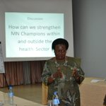 Dr. Olive S, from @WHO,a maternal&Newborn health enthusiast making her presentation. @SNLuganda #Champ4Newborns http://t.co/0lVszA45hK