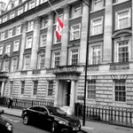 RT @CanadianUK: Our flag flies at half mast this morning in honour of Cpl. Nathan Cirillo, who was shot yesterday in Ottawa. http://t.co/RN6jiCDg0g