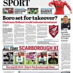 This weeks @TheScarboroNews back page RT @safc @ScarboroughRUFC @ScarboroNewsPix @ScarboroCouncil @Scarborough_UK http://t.co/4dCFbfS1Wb