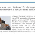 """RT @Iraniana: """"@LeoGavio: #Aecio45PeloBrasil Joaquim Barbosa se revolta com eleitores http://t.co/WZFnZYX5vi"""" #Aecio45PeloBrasil"""