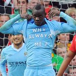 """""""On this day 3 years ago, Manchester City beat Manchester United 6-1 and Mario Balotelli did this... http://t.co/VN20GeEqWd"""""""