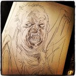 ~~ THE THING ~~ (1982) Start2Finish. ICYMI ~ One of my favorite #FFFear Ive drawn this month :) @TheHorrorMaster http://t.co/iKWRnMknyq