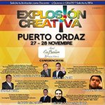 RT @PlusDigital1: No te quedes sin vivir la #ExplosionCreativa en #PuertoOrdaz #Guayana en el hotel @PlazaMeru #publicidad #mercadeo http://t.co/UI883PYFHP