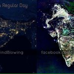 This is how India looks like from outer space on Diwali Night. Happy Diwali everyone. http://t.co/eonxffiJAw