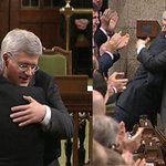RT @CBCOttawa: AN EMOTIONAL HOUSE | PM Stephen Harper hugs Thomas Mulcair and Justin Trudeau this morning. #cbcOTT #OTTnews http://t.co/f0DuVS1gdB
