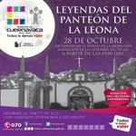 RT @CuernavacaGob: #NoTeLoPierdas Muérete de miedo con las Leyendas del Panteón de la Leona | 28 de octubre - 19:00 hrs #Cuernavaca http://t.co/oVoxGUZOVQ