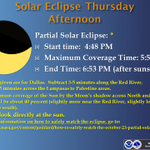 A partial solar eclipse occurs this afternoon... http://t.co/MDi9lvuSd4
