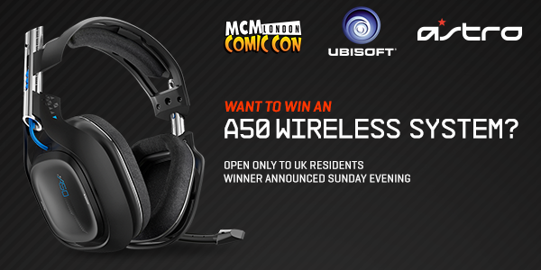 .@ASTROGAMINGUK have given us an A50 Audio System to give-away this weekend during @MCMExpo! RT to enter the draw. http://t.co/XfpK5Y9aMy