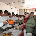 Sharing sweets with our Jawans at Siachen. http://t.co/ebHWkRwe3e