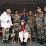 PM Modi with fauji dog in Siachen. :-) http://t.co/tzVHhZ1krZ