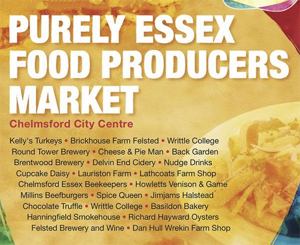 Purely Essex – Local Food Producers Market Chelmsford High St this Sunday 26th Oct. http://t.co/yhfZmD5pc2 http://t.co/AW2BbfLoHv