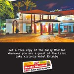 Get a free copy of @DailyMonitor whenever you are a guest at the Laico Lake Victoria Hotel #Entebbe. http://t.co/GqLbP96MJT
