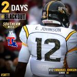 RT @USMGoldenEagles: 2 Days until we #BLACKOUT The Rock for @SouthernMissFB vs. LA Tech! RT if youll be there! #SMTTT http://t.co/umlpRLoBeT