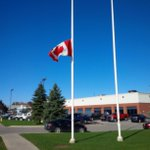 Many flags at half mast today in south #barrie industrial area. http://t.co/9EjikhXBKk