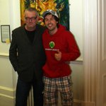 Mr @MrJamieMcDonald with the artist at Gloucester Museum. More to come later http://t.co/vOOfJlCoPY