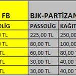 RT @Besiktas: Fenerbahçe ve Partizan ile Atatürk Olimpiyattaki maçlarımızın biletleri tek maçlık ve 2 maçlık paket olarak satışta http://t.co/sdRyKZgaTJ