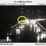 Crash: I-5S near Marine Dr. Right shoulder for now #pdxtraffic #VanWA #kgwnow http://t.co/NRedYJvmip