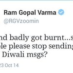 """RT @Miss_SimranKaur: I m sure not his hand, his ass is burning due 2 crackers. Lets fire an """"Aalu bomb"""" on his front tale :P @RGVzoomin http://t.co/DLQfP34LiH"""