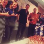 The #redgate #sqllighthouse team celebrating the first public release with cake and a jigsaw: http://t.co/w6lIOq7IGc http://t.co/xFvJ6EeoWQ