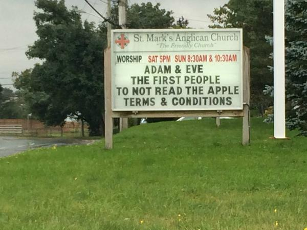 For your amusement: Adam, Eve, and Apple. http://t.co/3Copa3vSPk