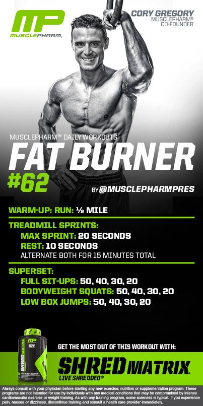 RT @MusclePharm: MusclePharm Circuit Workout of the Day!  Fat Burner 62 by @MusclePharmPres  Powered by #ShredMatrix http://t.co/kqS5rdZ4vS