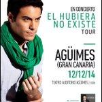 @MurrikoRadio Gran Canaria! Teatro Auditorio Agüimes Viernes 12 de Dic! Entradas ya a la venta #España Abrazos :D http://t.co/lzh27PhJrQ