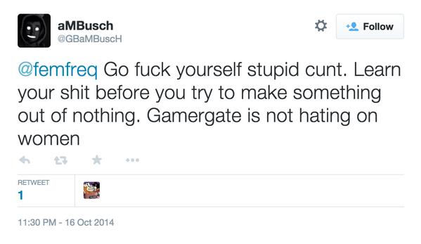 Cooper Fleishman (@_Cooper): #GamerGate http://t.co/AOzjdef24H