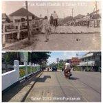 RT @infoPontianak: Napak Tilas #PTK243 FOTO Jalan Pak Kasih (Gertak I) Tahun 1970 dan Sekarang. http://t.co/Gi6VG3YtAF