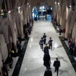 Applause breaks out as the Sgt at Arms, Kevin Vickers, passes. (Hes the one with the Mace.) #hw http://t.co/GwlRHKXUhd