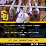 It is #GameDay for @SouthwesternVB Who is making the trip to @OLLUSaints for the 7pm start? #PiratesFight http://t.co/anlv5c1tJR