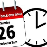 RT @NNweather: Remember #NorthantsHour to put your clocks back an hour on Sunday morning as BST becomes GMT once more. http://t.co/FDnJTofBBi