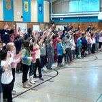Thanks to our friends at Asa C. Adams schools for singing and dancing with us this morning! #WereGonnaHaveaGoodDay http://t.co/XJd71Ftlej