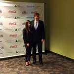 .@jasonaltmire and @DanicaPatrick pose for a photo for the @JAofNFL #jagirlsjax reception. http://t.co/G55Nal2e8m