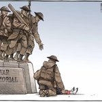 "RT @HonJohnBaird: ""We stand on guard for thee"". Most powerful newspaper cartoon Ive seen in a long time. #OttawaShooting #CanadaStrong http://t.co/z2MtKX3Cw9"