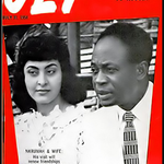 """???????????????? """"@GhanaInPix: Kwame and Fathia Nkrumah were on the cover of JET. The married circa 1957. #MadeOfBlack http://t.co/meg0wttZdE"""""""