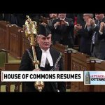 RT @CBCNews: VIDEO: Sergeant-at-Arms Kevin Vickers enters the Commons to a standing ovation http://t.co/ayVorRNxxe #OttawaShooting http://t.co/LbFwCeTFlG