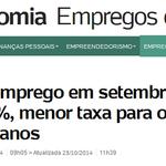 RT @epiccino: O desemprego está aumentando candidata Mais baixo q o desemprego só a credibilidade do Aécio #13rasilTodoComDilma http://t.co/8CsNkmCEzk