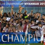 """العنابي """"العالمي"""" يتوّج بطلاً لكأس آسيا للشباب http://t.co/rX8HyKarkz #استاد_الدوحة #قطر http://t.co/nilsLDtl4Y"""