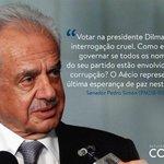 """RT @marcosobreira2: """"@dudufortes1: """"Aécio representa a última esperança de paz neste país"""" - Senador Pedro Simon. #Aecio45PeloBrasil http://t.co/b7xbTfvYH5"""""""""""