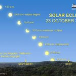 Partial solar eclipse will be visible in SoCal today when the moon crossed in front of the sun http://t.co/kSDh9BLpWm http://t.co/aXy0xQ5vie