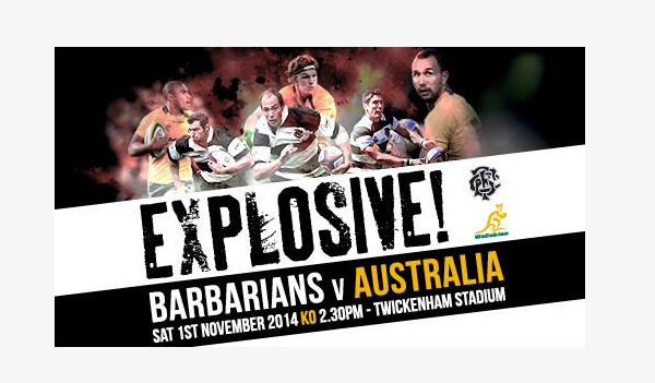 WIN 2 TICKETS TO @Barbarian_FC v Austrailia on the 1st  RETWEET AND FOLLOW for a chance to #win  #rugby #rugbyunited http://t.co/My5Z2DuIXG