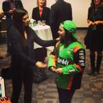 RT @FLBlue: A young fan. @DanicaPatrick greets a young fan before the @JAofNFL #JAgirlsJax luncheon. http://t.co/ru4ZtRMKfg