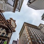 View under the Kaufmanns clock in downtown #Pittsburgh that I captured yesterday. Sometimes you just gotta look up! http://t.co/Zao5RXYe8n