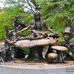 RT @oneandonlycory: A gift to the children of New York City, Alice in Wonderland Statue on a rainy day #CentralPark #NYC @EverythingNYC http://t.co/kE0d8KyV0f