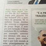 """RT @xicograziano: Cuidado com IBOPE. Recebeu R$ 5,2 milhões do governo para medir """"audiência"""" da TV Brasil. Entendeu? #SouAécio http://t.co/wVfWLHQdsh"""