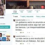 """RT @norejj: Tuits de Leopoldo Castillo encienden alarmas sobe la """"revolución bancaria"""" https://t.co/Y8D2Fbjq3Y http://t.co/ylz10TPQm5 @combatiente21"""