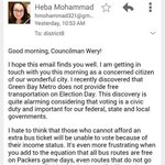 Muslim-American emails councilman about free buses for election day...He asks about Islamic militants and Sharia. 😒😒😒 http://t.co/1lFGhedalD