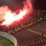Belgradda Beşiktaş tribünü. http://t.co/6vZ6zx3pNS