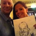 A perfect likeness of #ChrisShaw @The_ChrisShaw with Sarah of @TheLeedsClub #Leeds #ILoveLS :) http://t.co/iTxCTvsQ4d